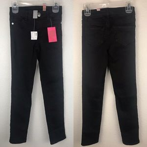 NWT JUSTICE Black Skinny Pants Style 0063 Size 8